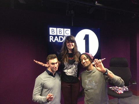 Rob Don Broco, Jen and Poet from Grime Daily