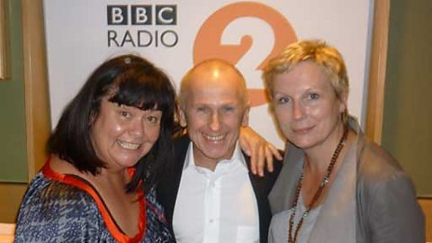 Dawn and Jennifer with guest Wayne Sleep