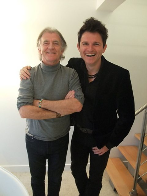 Gerry Anderson with Ciaran Gribbin in Paris.