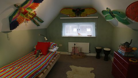 AFTER: CASPER'S NEW BEDROOM IN THE LOFT