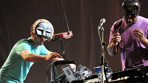 SBTRKT perform live at Maida Vale