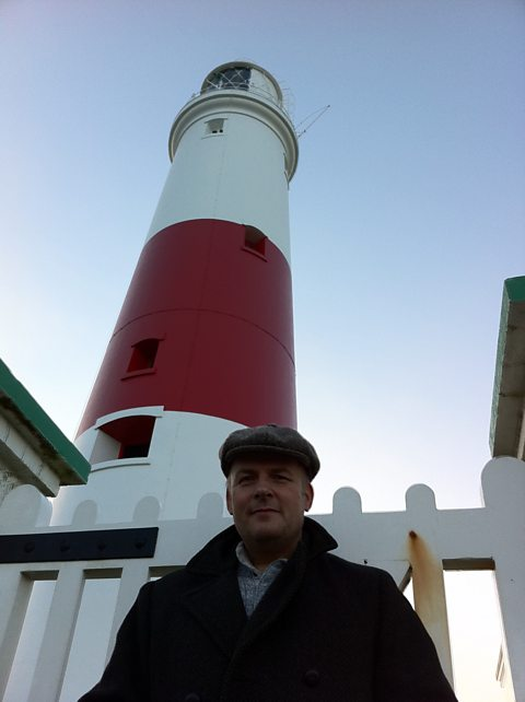 The Foghorn at Portland Bill Lighthouse, Dorset. Presenter Peter Curran