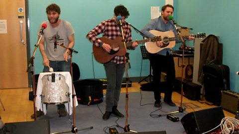 Frightened Rabbit playing live in the Bistro at BBC Aberdeen