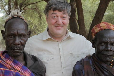 Stephen Fry with Turkana Elders