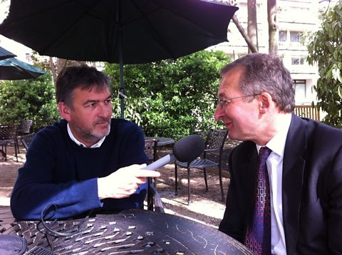 Mike with Dieter Helm of the Natural Capital Committee