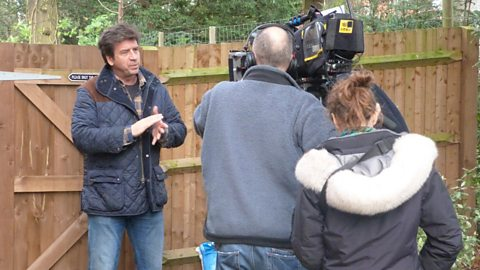 Filming with Nick Knowles
