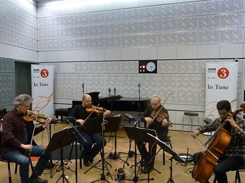 Kronos Quartet in the In Tune studio