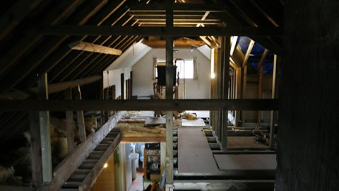 BEFORE: THE LOFT (LOOKING DOWN INTO THE HALL