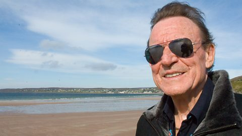 Jack Bruce on the beach near Gairloch, Wester Ross