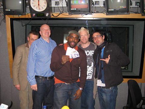 Tom Watt, Simon Day, Iyare Igiehon, Iwan Thomas, Colin Murray