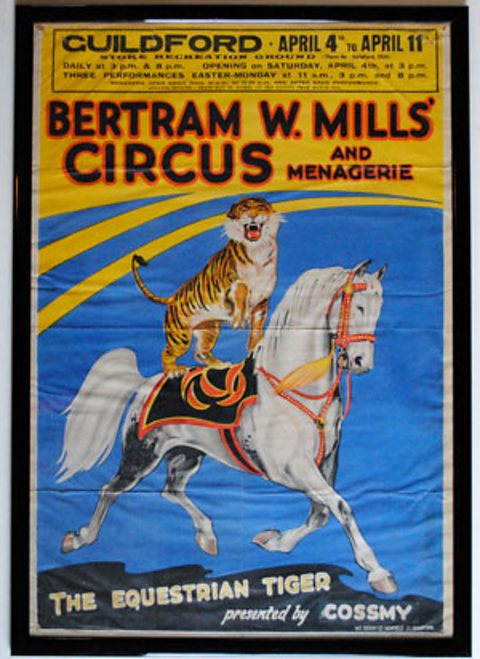 Bertram Mills' Circus and Menagerie poster