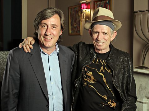 Keith Richards and Andrew Graham-Dixon