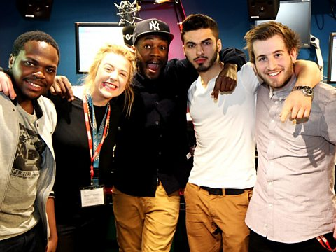 Twin B meets the Radio 1 and 1Xtra interns