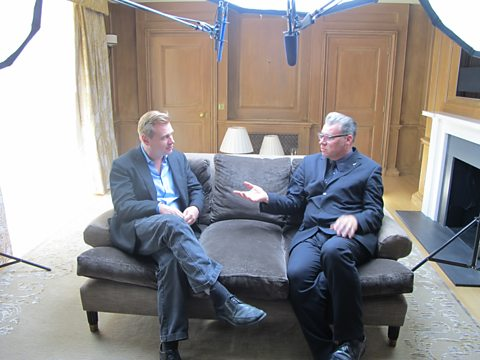 Mark Kermode and 'Dark Knight Rises' director Christopher Nolan at the Dorchester Hotel.