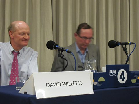 David Willetts and A.N. Wilson