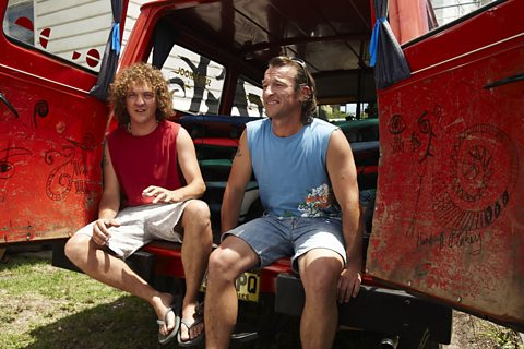 Photo: Chris Lilley as Blake & Paul Pearson as Hunter