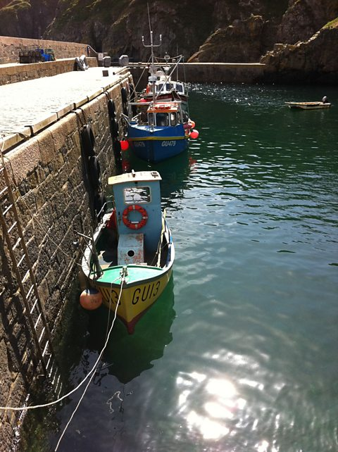 Fishing boat in Sark harbour