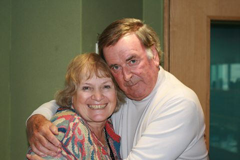 Terry with Libby Purves
