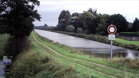 The Sambre-Oise Canal where Owen died (Photo Credit: Simon Patterson)