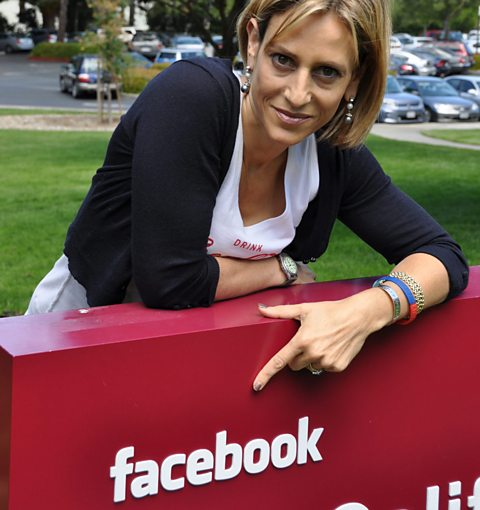 Emily at Facebook headquarters in Silicon Valley
