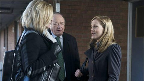 Sandra Pullman (Amanda Redman), Jack Halford (James Bolam) and Samantha Gerson (Sally Phillips)