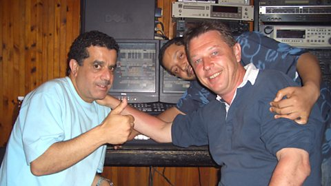 Andy with houari benchenet (left) and producer Boulamar Toufiq