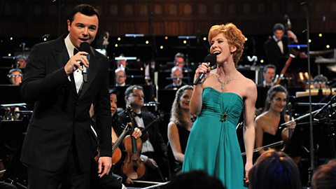 Photo: Seth MacFarlane and Anna-Jane Casey