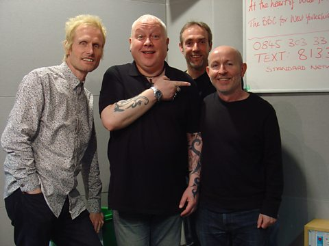 Kieran Goss with The Durbervilles at BBC Leeds