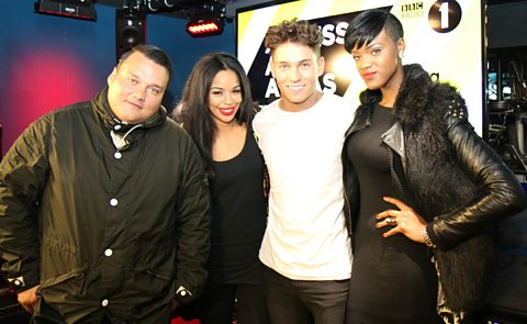 Charlie Sloth with Joey Essex, Sarah-Jane and RiRi.