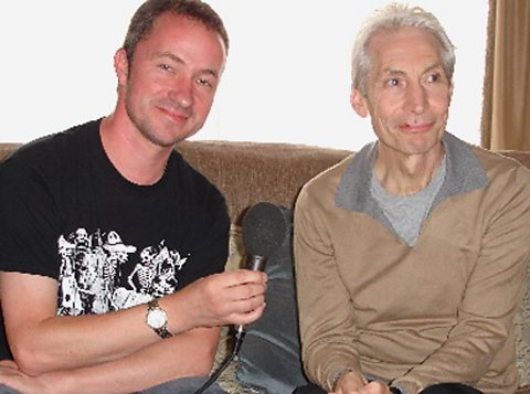 Charlie Watts with Paul Sexton