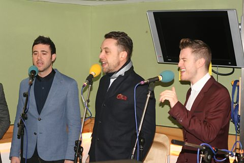 The Overtones in session