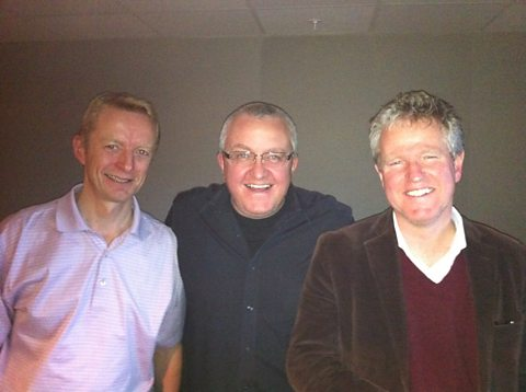 Neil Patey, Tam and Graham Spiers (Stuart was in London)