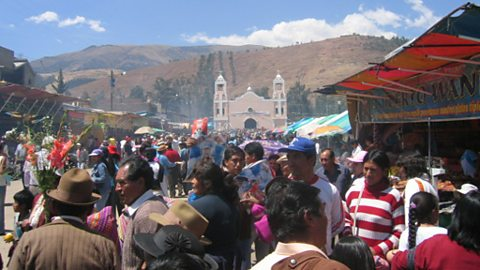 The annual festival for the Virgin of Cocharcas, Huancayo province