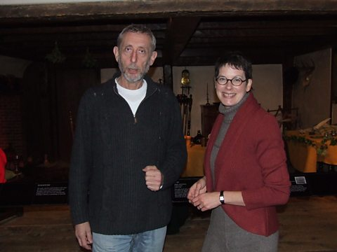 Michael Rosen and Laura Brown at The American Museum in Britain
