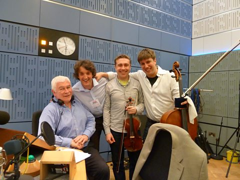 Sean with the Dimension Trio: Anthony Hewitt, Rafal Zambrzycki-Payne and Thomas Carroll