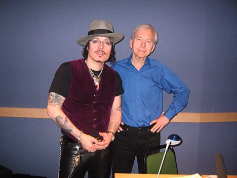 Adam Ant and John Humphrys in the 'On the Ropes' studio