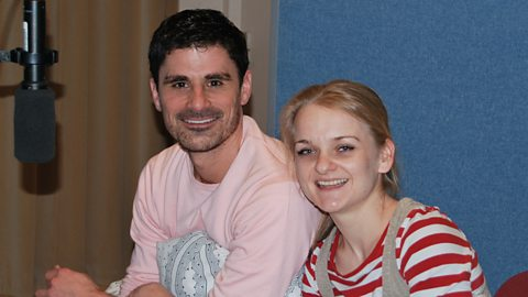 Daniel Rabin (Jim) and Alex Tregear (Alice)