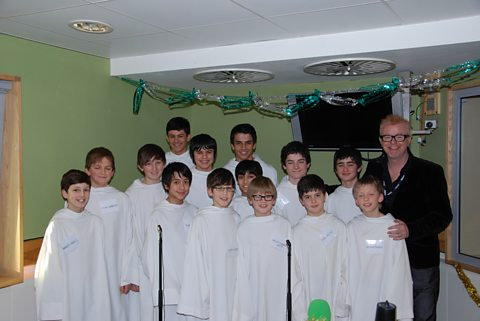 Chris with the boys from Libera!