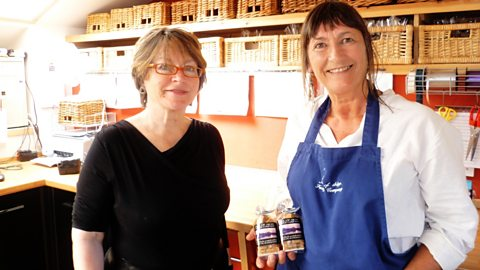 Sheila and local food campaigner Carole Inglis of Isle of Skye Fudge