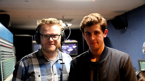 Huw with Jamie XX in Bridlington