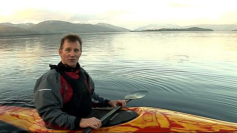 Kayaking expert Neil Baxter on Loch Lomond