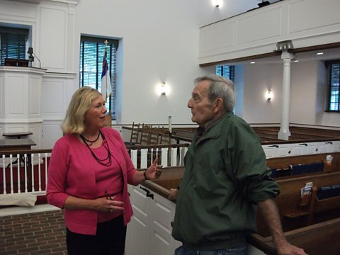 Charlene &amp; Ronald Wickes in historic Paxton Church