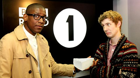 Labrinth & Matt Edmondson with some APOLOcheese (TM)
