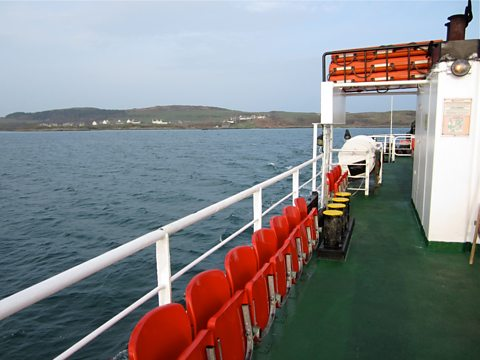 The Island of Gigha from the ferry