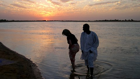 The Niger River at Sunset