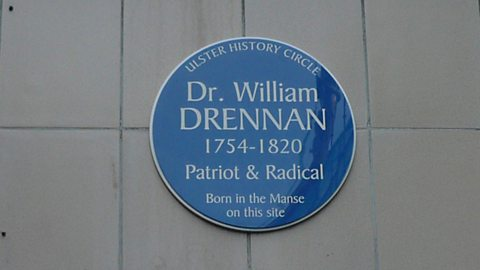 William Drennan Plaque