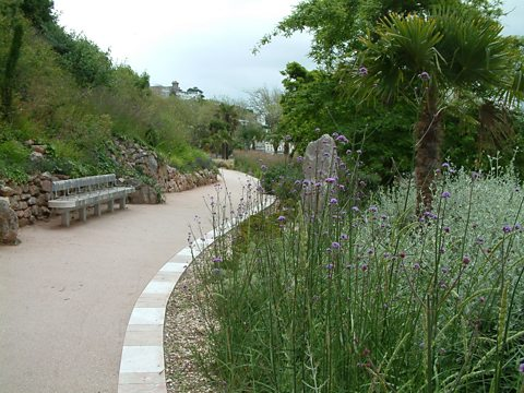 The Rock walk gardens in Torquay