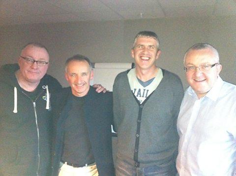 Stuart, Pat Nevin, Charlie Richmond and Tam