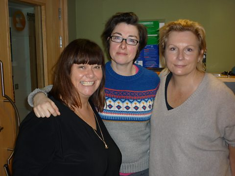 Dawn and Jennifer with guest Sue Perkins