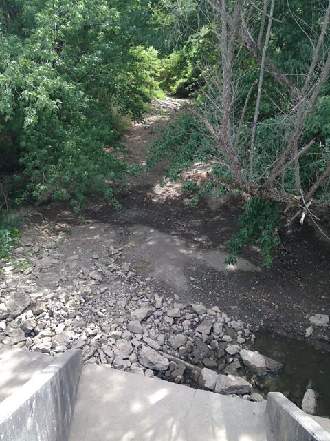 A dry creek in the U.S. Mid-West